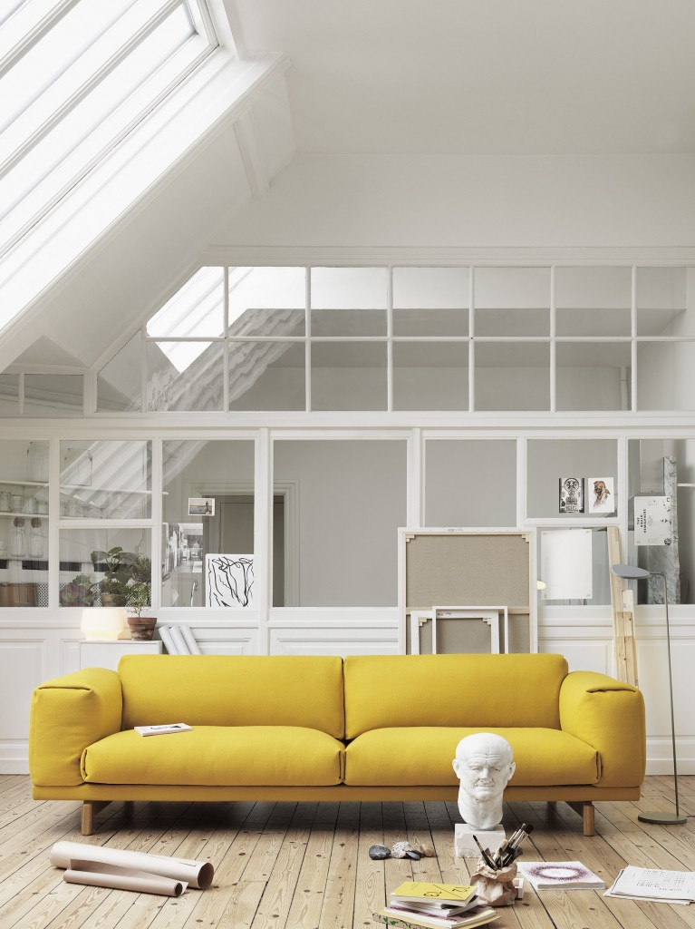 Rest_Yellow_Hallingdal 457_Leaf Floor Lamp
